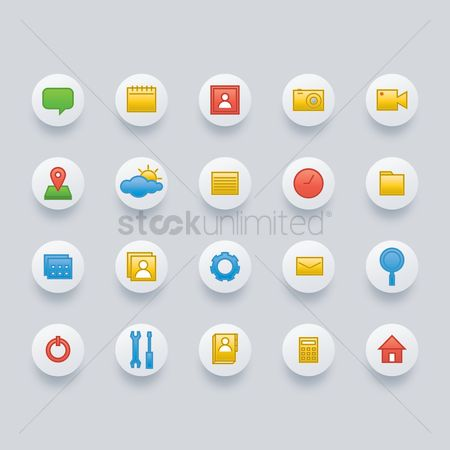 Handy : Set of social media icons