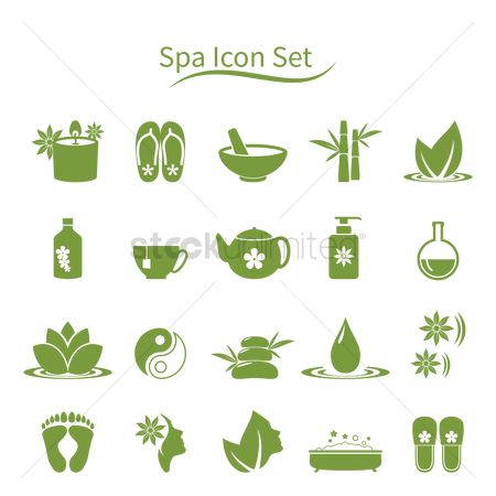Conditioning : Set of spa icons