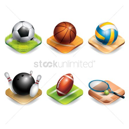 Soccer : Set of sports equipment