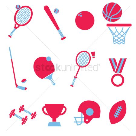 Athletes : Set of sports icons