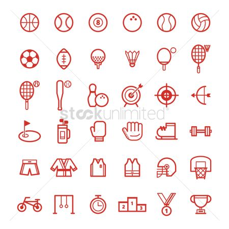 Footballs : Set of sports icons
