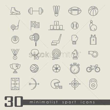 Medal : Set of sports icons