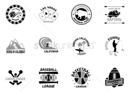 Casinos : Set of stickers