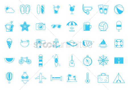 Tents : Set of summer icons