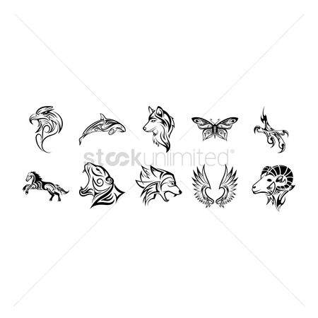 Hawks : Set of tattoos