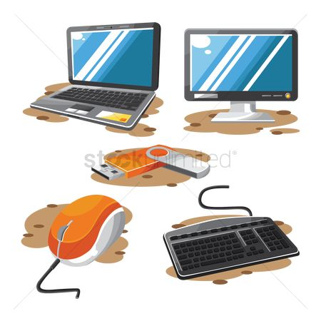 Pendrive : Set of technology gadgets