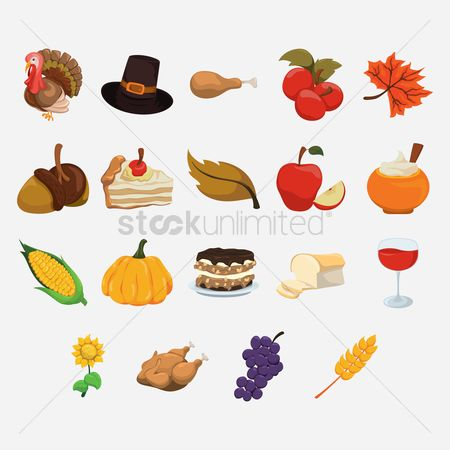 Clothings : Set of thanksgiving icons