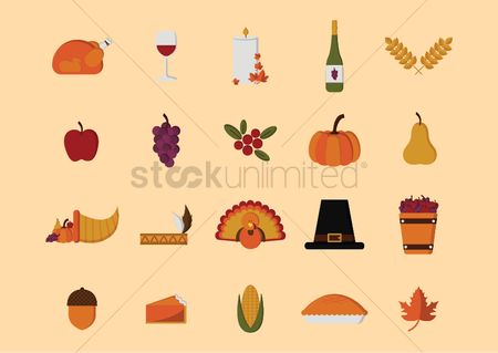 Headdress : Set of thanksgiving icons