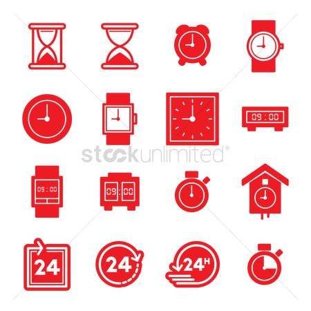 Wristwatch : Set of time concept icons