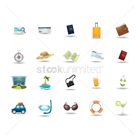 Holiday : Set of travel icons