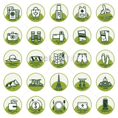 Towers : Set of travel icons