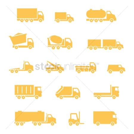 Automobile : Set of truck icons
