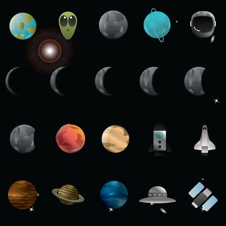 Spaceships : Set of universe icons