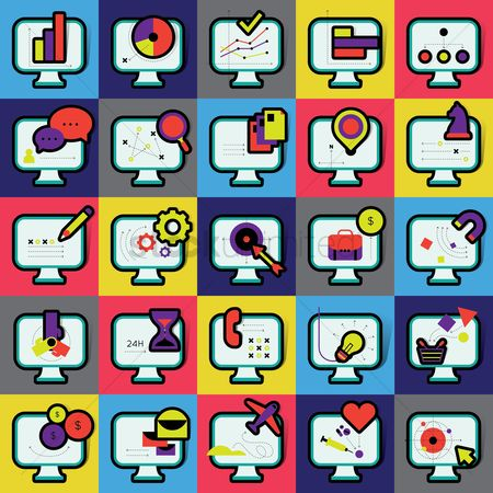 Phones : Set of various icons