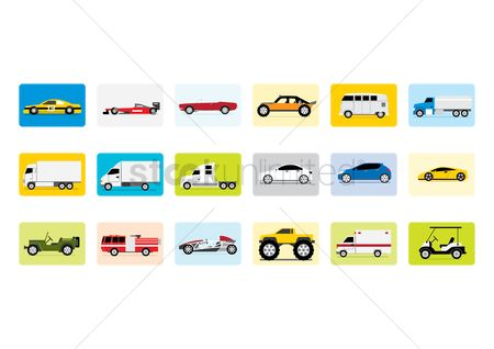 Oil : Set of vehicle icons