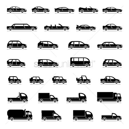 Mobiles : Set of vehicle icons