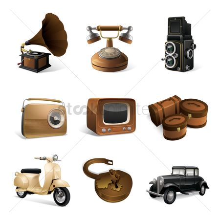 Sets : Set of vintage icons