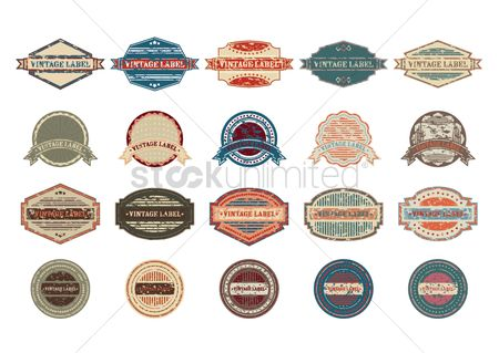 Insignia : Set of vintage labels