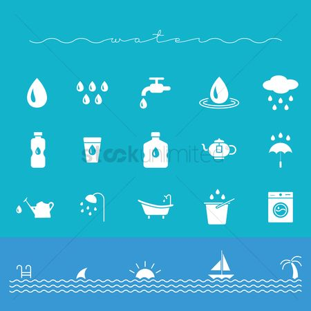 Teapot : Set of water icons