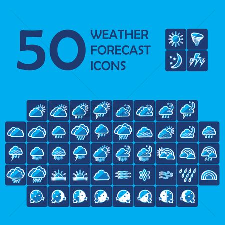 Sunray : Set of weather icons