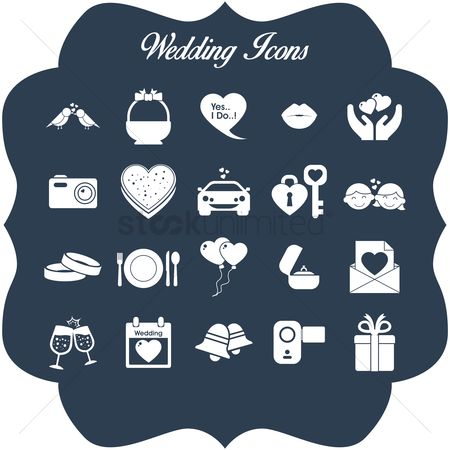 Eat : Set of wedding icons