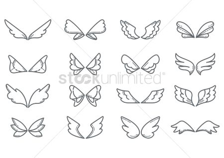 Linear : Set of wings icon
