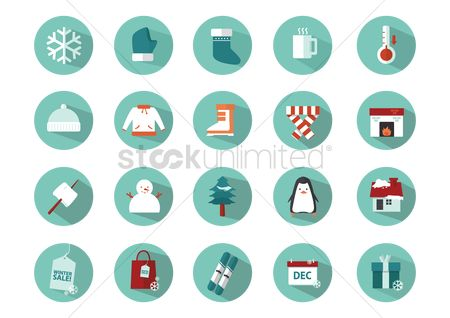 Confectionery : Set of winter icons