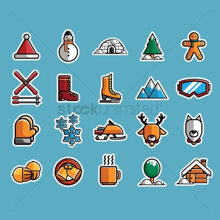 Sports : Set of winter icons