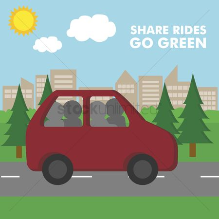 Save trees : Share rides and save fuel