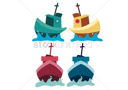Sailors : Ships over pink background