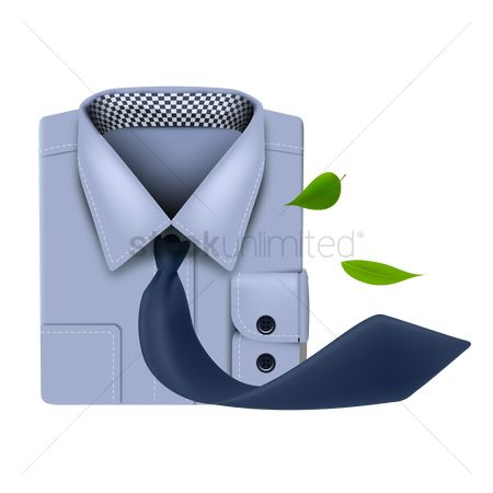 Cloth : Shirt with tie