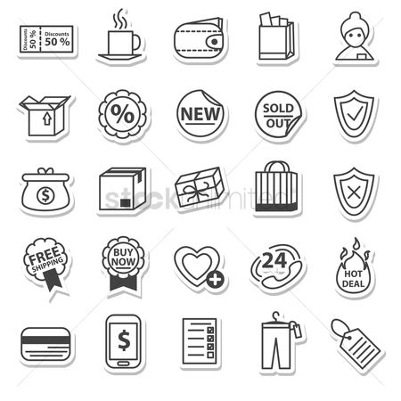 Favourites : Shopping icons