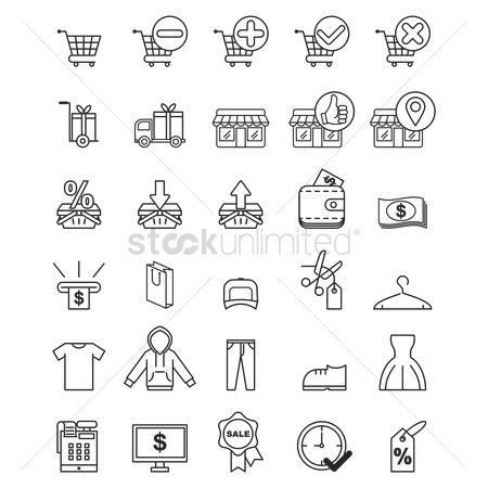 Trolley : Shopping icons