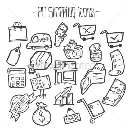 Retail : Shopping icons
