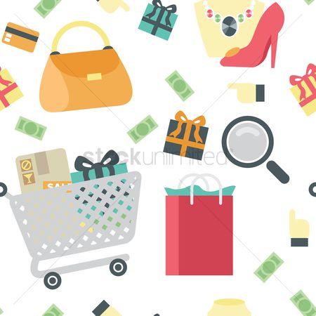 Shopping background : Shopping theme background
