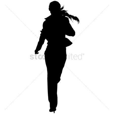Exercise : Silhouette of a woman running