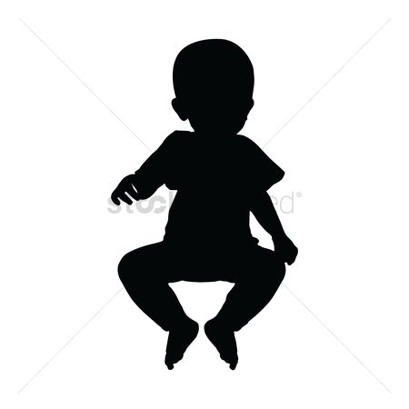 Cutout : Silhouette of baby