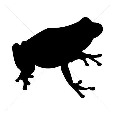 Cutout : Silhouette of frog