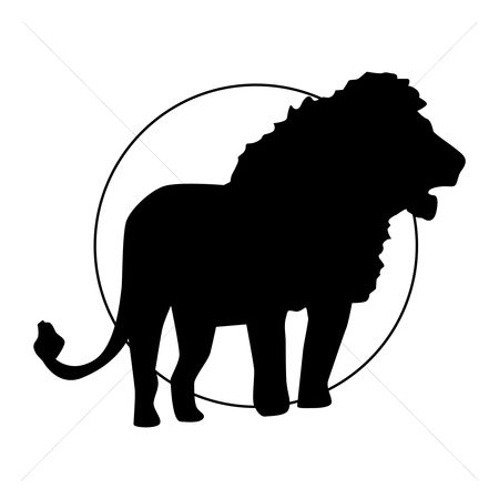 Cutout : Silhouette of lion