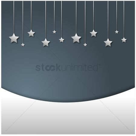 Silver : Silver falling stars on grey background