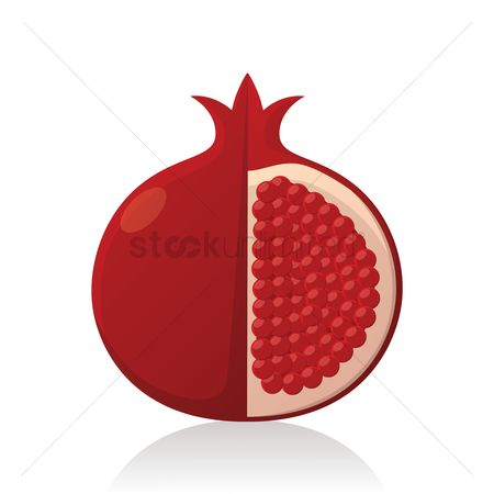 Nutritions : Sliced pomegranate