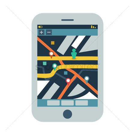 Smart : Smart phone with road map