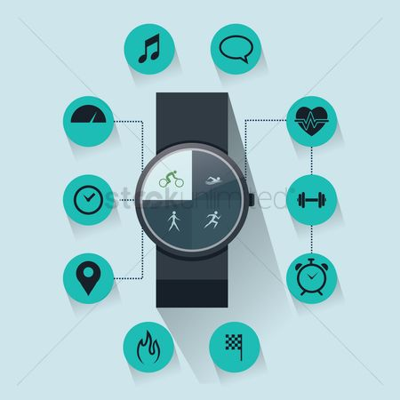 Wristwatch : Smart watch and health concept