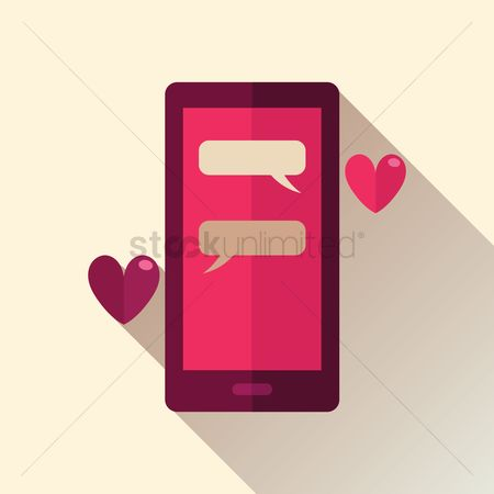Love speech bubble : Smartphone chat