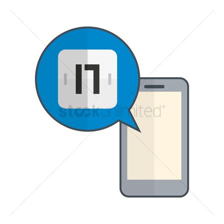 17 : Smartphone with calender icon