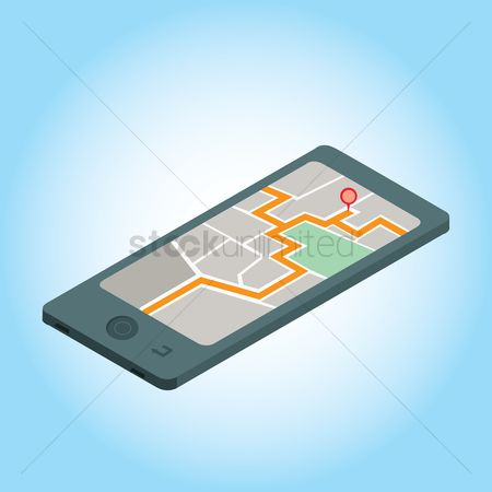 App : Smartphone with map app