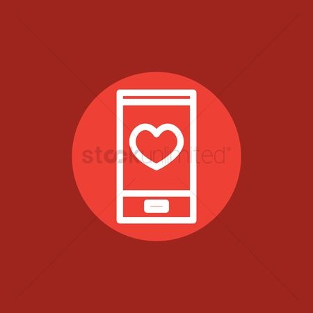 Online dating icon : Smartphone
