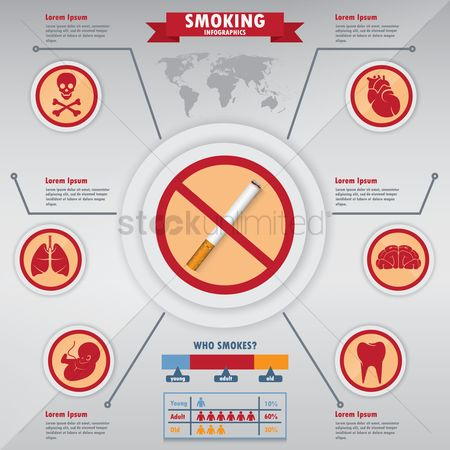 Lifestyle : Smoking infographic design