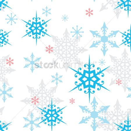 Season : Snowflake background