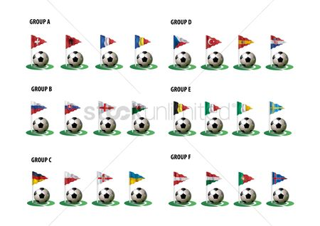 Belgium : Soccer ball with flag pole set